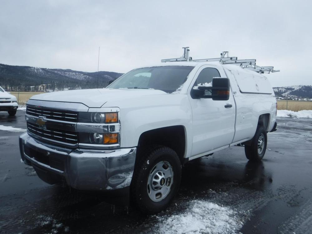 2015 White Chevrolet Silverado 2500HD Long Box 4WD (1GC0KUEG9FZ) with an 6.0L V8 OHV 16V FFV engine, 6-Speed Automatic transmission, located at 3810 US Hwy 93 S, Kalispell, MT, 59901, (406) 752-1138, 48.131493, -114.269760 - Photo #0