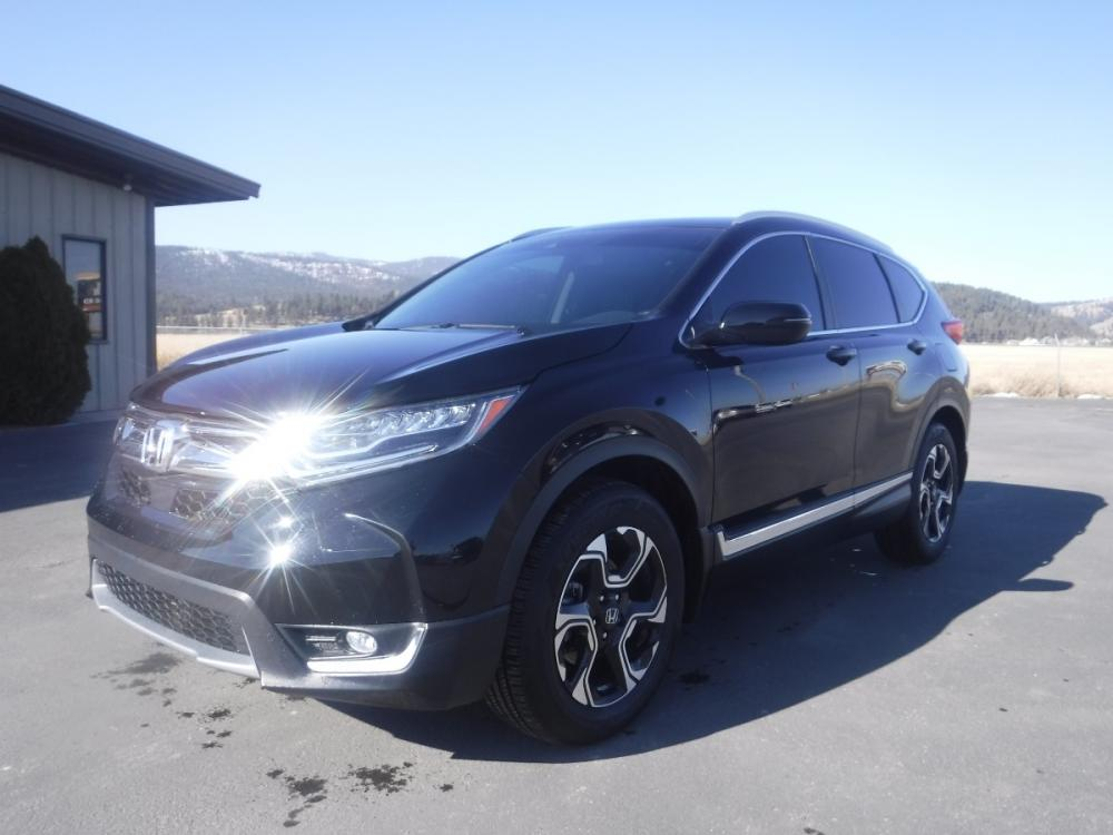 2017 Black Honda CR-V Touring AWD (2HKRW2H91HH) with an 2.4L L4 DOHC 16V engine, CVT transmission, located at 3810 US Hwy 93 S, Kalispell, MT, 59901, (406) 752-1138, 48.131493, -114.269760 - Photo #0