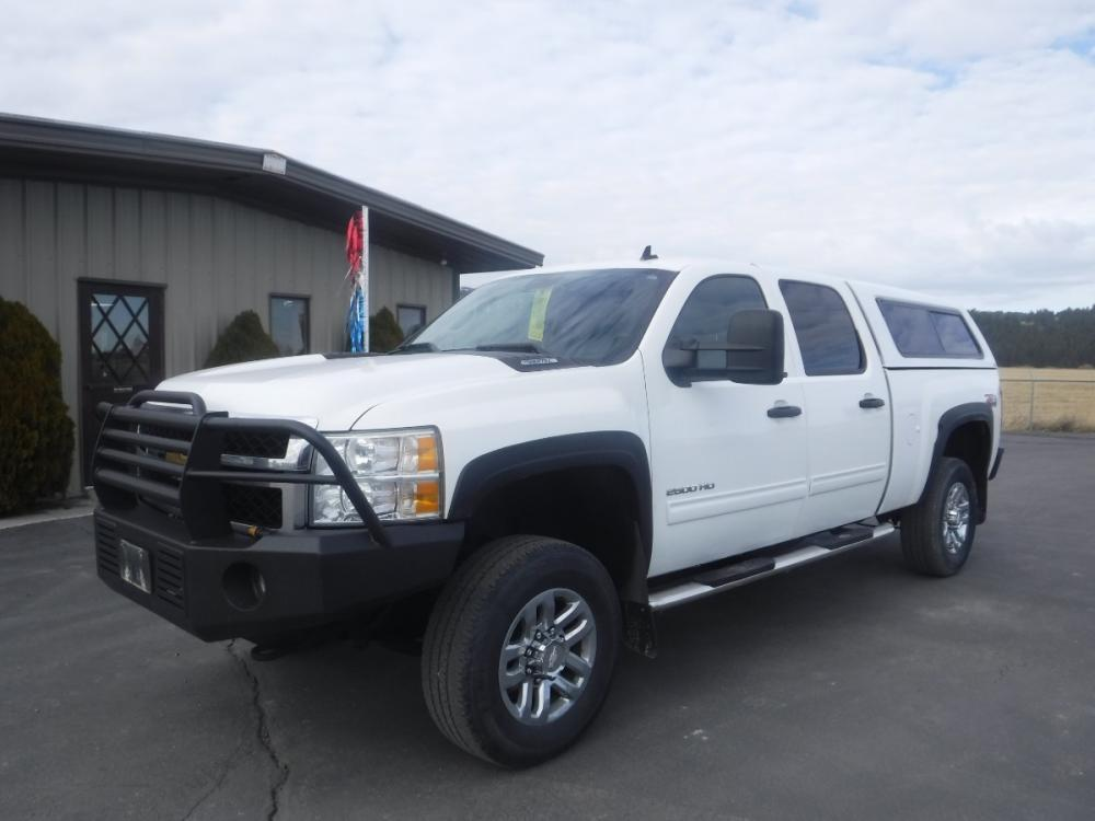 2011 WHITE /black cloth Chevrolet Silverado 2500HD (1GC1KXCG3BF) with an 6.0-Liter 8 Cylinder Engine engine, located at 3810 US Hwy 93 S, Kalispell, MT, 59901, (406) 752-1138, 48.131493, -114.269760 - Photo #0
